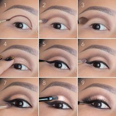 Soft, rose gold, smokey eye tutorial. Good for hooded eyelids or monolids on Asian eyes. Products and instructions in the link. Wedding makeup, special occasion, evening makeup.