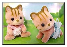 Calico Critters Caramel Cat Twins (CC2012)