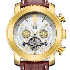 MG ORKINA Top Brand Men Watches Tourbillion Date Day Mechanical Watch Automatic Genuien Leather Wristwatch Reloj Hombre + Box #Affiliate