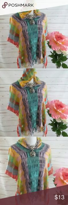 ANTHROPOLOGIE Colorful Sweater Hoodie Med This is a lovely imported by Anthropologie brand Sparrow loose knit weave hoodie sweater type shirt. It is size medium. It is in excellent preowned condition and sold without stains or flaws. Sparrow Sweaters Cardigans