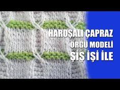 HAROŞALI ÇAPRAZ Kötés Stitch Patterns Tutorials - Kötés Stitch Hogyan - YouTube