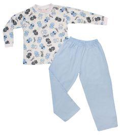 Pijama masculino infantil estampado. Confeccionado em 100% algodão.