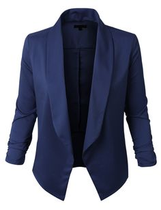 Sharpen your wardrobe with this lightweight open front draped tuxedo blazer jacket. A softly draped open-front silhouette softens the look while the asymmetrical hem adds a modern touch to this blazer