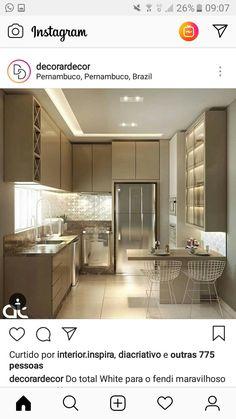 Trendy Kitchen Makeover U Shaped Kitchen Sets, Home Decor Kitchen, Interior Design Kitchen, New Kitchen, Home Kitchens, Kitchen Pantry, Kitchen Layout, Gray Kitchen Countertops, Small U Shaped Kitchens