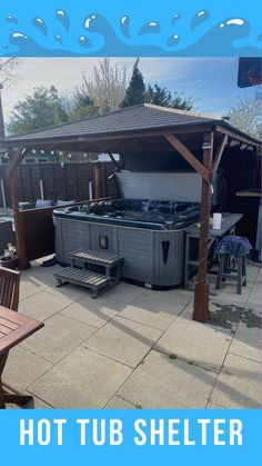 The Utopia 3m x 3m Gazebo is ideal for use as a Hot Tub Shelter
