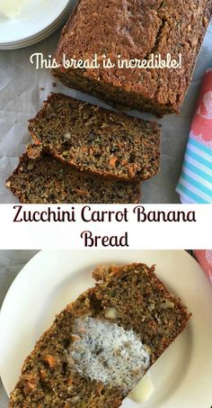 Zucchini Carrot Banana Bread. Or the BEST banana bread ever!