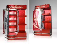 Point of Purchase Design   POP   POS   POSM   Retail Display  Exhibidores Budweiser - Stella Artois by Eddy Flores, via Behance
