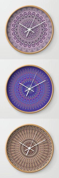 Beautiful Mandala Wall Clocks  #designgift #society6art #gifts #gift