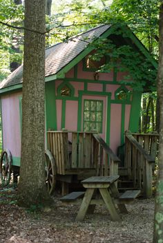 Ezmerelda's Wagon provides a wonderful venue for camping enthusiasts!  This heated wagon includes a ceiling fan, a kitchenette, and ambiance.  The private bath house is a short walk down the wooded path.  The rest is up to you! Be sure to bring your sleeping bag or air mattress!