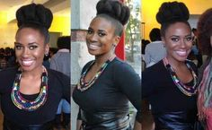 Nicole Marie Melton's Top Knot | 29 Awesome New Ways To Style Your Natural Hair