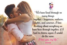 I love you. Three magical words bind two people together. These collection of Romantic love messages for wife can show passionate love and expressions. Cute Couple Quotes, Love Quotes For Wife, Love Your Wife, Thank You Quotes, Husband Quotes, Quotes For Him, Be Yourself Quotes, Valentines Quotes For Wife, Valentine Wishes For Wife