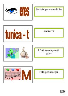 JEROGLÍFICS 4 Let It Be, Map, School, Emotional Intelligence, Speech Language Therapy, Initials, Reading, Location Map, Peta