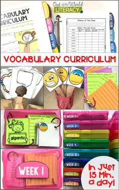 Have you been searching for a complete vocabulary curriculum that intentionally teaches tier 2 and tier 1 words on a weekly basis?  This curriculum gives you everything you need to plan, teach, assess, and master vocabulary with your kids!  Available for grades K-6.  So much suggested teacher language makes it super easy to implement.  Check it out!