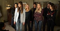 """There are many questions that need to be answered when Freeform airs the """"Pretty Little Liars"""" Season 7 series finale. Pretty Little Liars Series, Pretty Little Liars Seasons, Pretty Little Liars Fashion, Pretty Little Lairs, Shay Mitchell, Ashley Benson, Caleb And Spencer, Ezra And Aria, Mary Drake"""