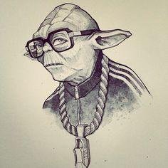 Yoda hip hop!. #hiphop #classic #music #culture #starwars