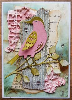 Atc Cards, Bird Cards, Journal Cards, Tim Holtz Dies, Sizzix Dies, Feather Cards, Art Trading Cards, Crazy Bird, Scrapbooking