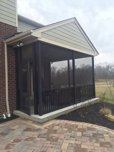 Screened in porch in Ainsley II at Rivercrest