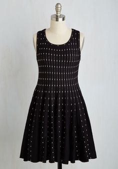 Satisfying Style Dress. Of course it looks fashionable, but what sets this black sweater dress apart is that it sneaks total comfort into the mix, as well. #black #modcloth