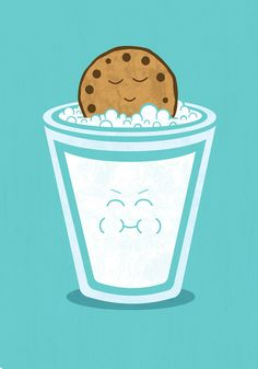 Hot Tub Cookie Art Print. Meleah this just makes me think of you blowing bubbles in your milk.