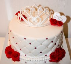 Terrific 177 Best Red And White Cakes Images White Cakes Cake Wedding Cakes Funny Birthday Cards Online Alyptdamsfinfo
