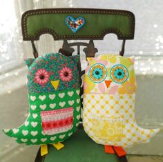 When I made my first new owl I did a silly thing. I cut out the back with the fabric the wrong side up. So it didn't fit the front. It was facing the wrong way. It wasn't the first time I'd done th...
