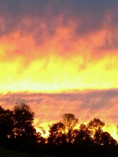"Sunset "" fire in the sky"""