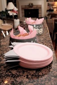 cat plates & cat food bowl buffet