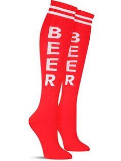 fun beer knee high socks by gumball poodle in green Crazy Socks, Cool Socks, Bacon Socks, Colorful Socks, Knee High Socks, Gumball, Poodle, Shop Now, Beer