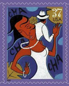 United States Postal Service Stamps ~ Latin Dances, Salsa, Merengue, Cha-Cha-Cha, & Mambo ~ www.justsalsa.com