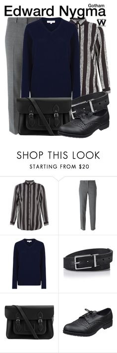 """""""Gotham"""" by wearwhatyouwatch ❤ liked on Polyvore featuring DKNY, Tulchan, Calvin Klein, The Cambridge Satchel Company, television and wearwhatyouwatch"""