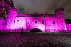 LONDON, ENGLAND - OCTOBER 01: The Tower of London is illuminated pink for Breast Cancer Campaign's 'Turn London Landmarks Pink' for breast cancer awareness month on October 1, 2012 in London, England. (Photo by Ian Gavan/Getty Images)