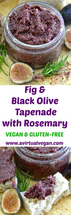 This rich, soft Fig and Black Olive Tapenade with Rosemary is my twist on traditional tapenade. Dark, deep & earthy olives are blended with ripe, plump & juicy figs to make an irresistibly delicious spread with a striking balance of sweet & savoury flavours. via @avirtualvegan