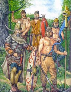 'possibly tribes roughly SE of Hinterlands, or men's. nearby/around yhe region [La Pintura y la Guerra - Página 681 - Foro Militar General Dacian Warriors] Ancient Rome, Ancient Art, Ancient History, D N Angel, European Tribes, Tribal Images, Celtic Warriors, Wolf Warriors, Tribal Warrior