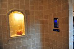Niche in a steam bath / Steam sauna ## Dampfbad-Nische