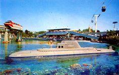 Original Submarine Voyage through Liquid Space in 1959. The submarines were Cold-War Grey.