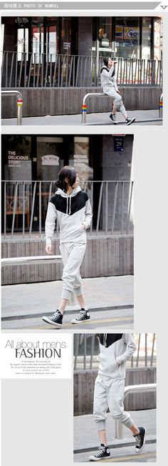 sporty hoodie and capris Sarouel Pants, Cotton Harem Pants, Trousers, Sport Pants, Man Style, Fashion Inspiration, Capri, Sporty, Mens Fashion
