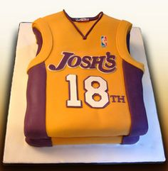 Basketball shirt birthday Cake @Camilla Baird but in ehs colours???