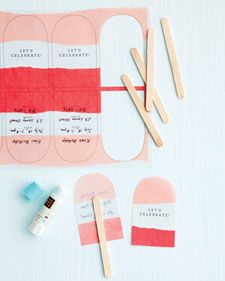 here comes summer party invite -- you could do the same idea with paint swatch cards
