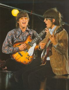 John Lennon and George Harrison (Revolver Sessions)