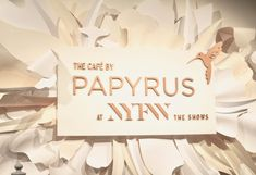 Papyrus and NYFW: The Shows are the match made in heaven and its that time again when they bring all the magic to NYFW! At this point, I think it wouldn't feel like fashion week without Papyrus! Made In Heaven, Match Making, Place Card Holders, Inspirational, Spring, Inspiration