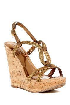 03cd16f5bcd Barby Wedge Sandal Ankle Strap Wedges