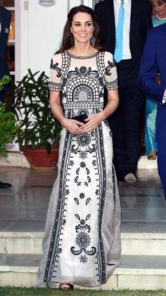 Look de gala de la Duquesa de Cambridge, Kate Middleton.