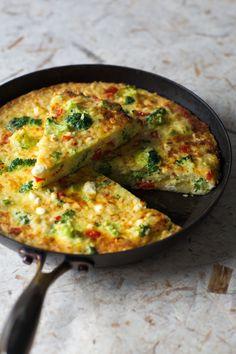 Broccoli and Pasta Pizza