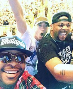 Selfie posted by Royce Da on insragram after the Eminem performance to the Lollapalooza. Eminem Funny, New Eminem, Eminem Rap, Marshall Eminem, Shady Records, Eminem Photos, The Real Slim Shady, Eminem Slim Shady, Rap God