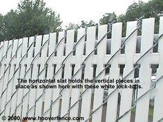 4' Vinyl Fence Slats - White at Menards   Backyard fences ...