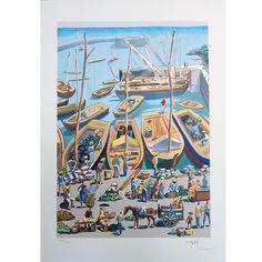 Carybé - Gravura assinada - Uma obra de arte na sua casa por um preço acessível! Etchings, Moldings, Caribbean, Artworks, Artists, Houses