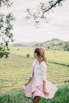 Gal Meet Glam Daisies & Wildflowers - Nordstrom dress and Gap denim jacket