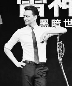 Tom Hiddleston- I've got nothing. Nope. No words for this. Not. A. One.