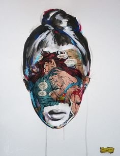 Modern Pop Art | Modern Day Pop Art Beauty - Sandra Chevrier | Patternbank