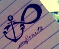 anchor + infinity. definitely get this as a tattoo!